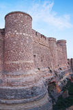 The fort. Wall of the chinchilla castle, in albacete province Stock Photos