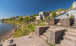 Fort abandonné de la deuxième guerre mondiale Photographie stock libre de droits
