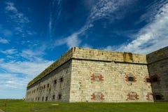 Fort Adams in Nieuwpoort, RI stock afbeelding