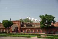Fort of Agra, India Royalty Free Stock Photos