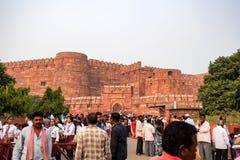 FORT, AGRA INDIA, LISTOPAD, -, 2017: Singh bramy brama Obraz Stock