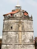 Fort Aguada i swój latarnia morska Obraz Royalty Free