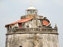 Fort Aguada i swój latarnia morska Fotografia Stock