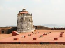 Fort Aguada i swój latarnia morska Obrazy Royalty Free