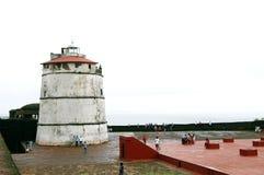 Fort Aguada jest konserwującym siedemnastowiecznym portugalczykiem f Obrazy Stock