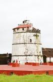 Fort Aguada jest konserwującym siedemnastowiecznym portugalczykiem f Obraz Stock