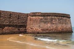 Fort Aguada w Goa Obrazy Stock