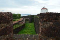 Fort Aguda, Goa. Fort Aguda view, Goa, India stock photos