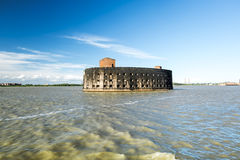 Fort Alexander first in Kronstadt in the Finskiy Gulf . St. Pete Royalty Free Stock Photos
