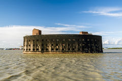 Fort Alexander first in Kronstadt in the Finskiy Gulf . St. Pete Royalty Free Stock Photo