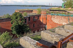 Fort Alexander I, or Plague Fort in Russia Royalty Free Stock Photography