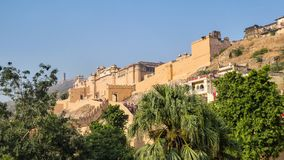Fort Amber is a fortress in Amer,near Jaipur, Rajasthan state, India stock photo
