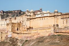 Fort amber in Jaipur Stock Afbeelding