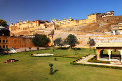 Fort ambre à Jaipur Image libre de droits