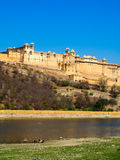 Fort ambre dans l'Inde de Jaipur Photo stock