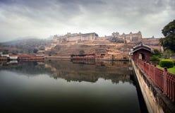 Fort ambre en Inde Photographie stock libre de droits