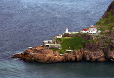 Fort Amherst Newfoundland. Fort Amherst and the Lighthouse at the entrance to St. John's Harbour Royalty Free Stock Photos