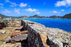 Fort Amsterdam, St Maarten Arkivbild