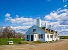 Fort Anne, Annapolis Royal. Fort Anne National Historic Site, Fort Anne National Park, Annapolis Valley, Annapolis Royal, Nova Scotia, Canada Royalty Free Stock Photo
