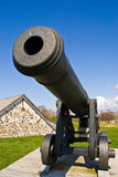 Fort Anne cannon, Annapolis Royal. Canon in Fort Anne National Historic Site, Fort Anne National Park, Annapolis Valley, Annapolis Royal, Nova Scotia, Canada royalty free stock images