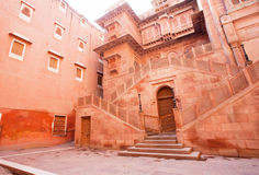 Fort antique de Junagarh dans Bikaner, Inde Photos libres de droits