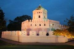 Fort antique de Phra Sumen au crépuscule de soirée bangkok Photo libre de droits