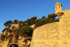 Fort Antoine i Monaco arkivbild