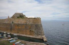 Fort antyczny forteca korfu Greece obraz royalty free