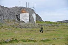 Fort Aonghasa brun grisâtre Photographie stock libre de droits
