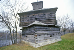 Fort Armstrong Blockhouse, Rock Island, Illinois Stock Images