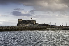 Fort in Arrecife. Royalty Free Stock Photo