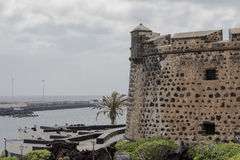 Fort in Arrecife. Royalty Free Stock Photography
