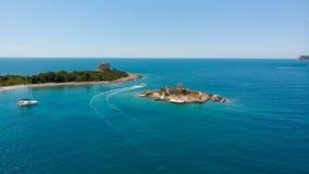 Fort Arza and Island Otocic Gospa, near the island of Mamula in the Adriatic Sea. Montenegro stock photos