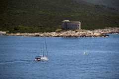 Fort Arza, Zanjic, Boka Kotorska Bay, Montenegro Royalty Free Stock Image