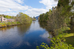 Fort Augustus Scotland UK Scottish Highlands popular tourist village next to Loch Ness Royalty Free Stock Photography