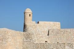 Fort av Bahrain i Manama, Mellanösten royaltyfria foton