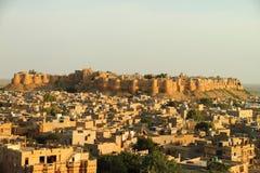 Fort av Jaisalmer Rajasthan Arkivfoto