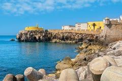 Fort av Peniche portugal arkivfoton