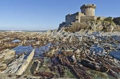 Fort av Socoa och lågvattenAtlantenkostnad fotografering för bildbyråer