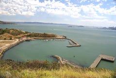 Fort Baker Beach on Horseshoe Cove, SFO, California Royalty Free Stock Images