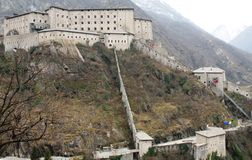 Fort Bard in Valle d'Aosta Stock Image