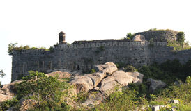 Fort battlement with corner doom Royalty Free Stock Photo