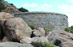Fort battlement with sky background Royalty Free Stock Photos