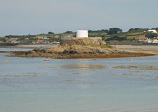 Fort in the bay.  Guernsey Stock Photos