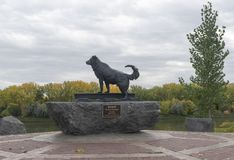 Fort Benton Dog Statue. Historic Statue in Fort Benton Montana. Commemorates the dog named Shep who remained faithful to his owner after his owners death in 1936 royalty free stock photography