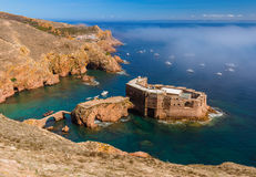 Fort in Berlenga island - Portugal Royalty Free Stock Photo