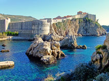 Fort Bokar and Old town of Dubrovnik Stock Image