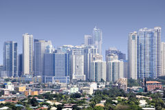 Fort bonifacio skyscrapers manila skyline philippines Stock Images