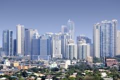 Fort bonifacio Wolkenkratzer Manila stockbilder