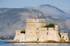 Fort Bourtzi in the city of Nafplio Royalty Free Stock Photo